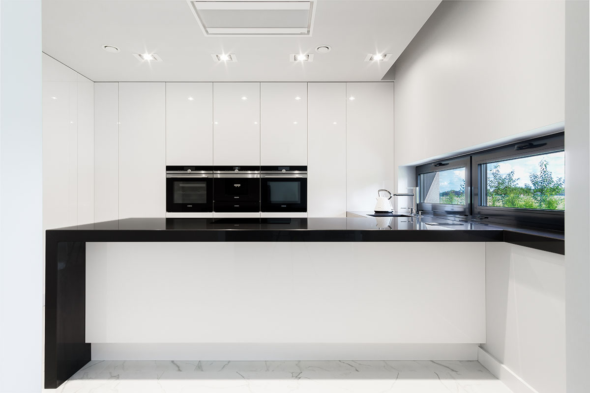 Kuchnia biały połysk - zdjecia wnętrz Wow House