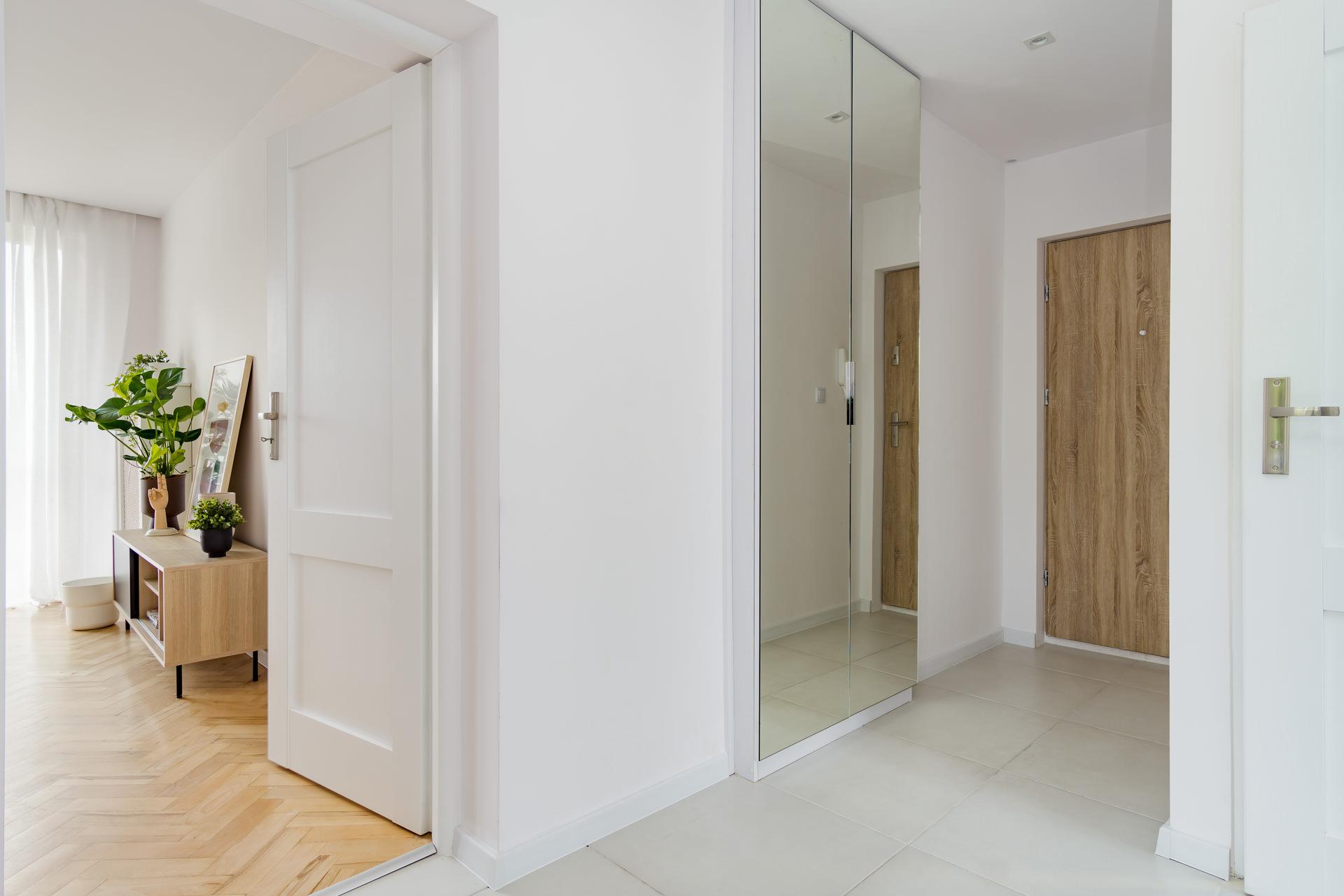 projekt wnętrz mieszkania - przedpokój