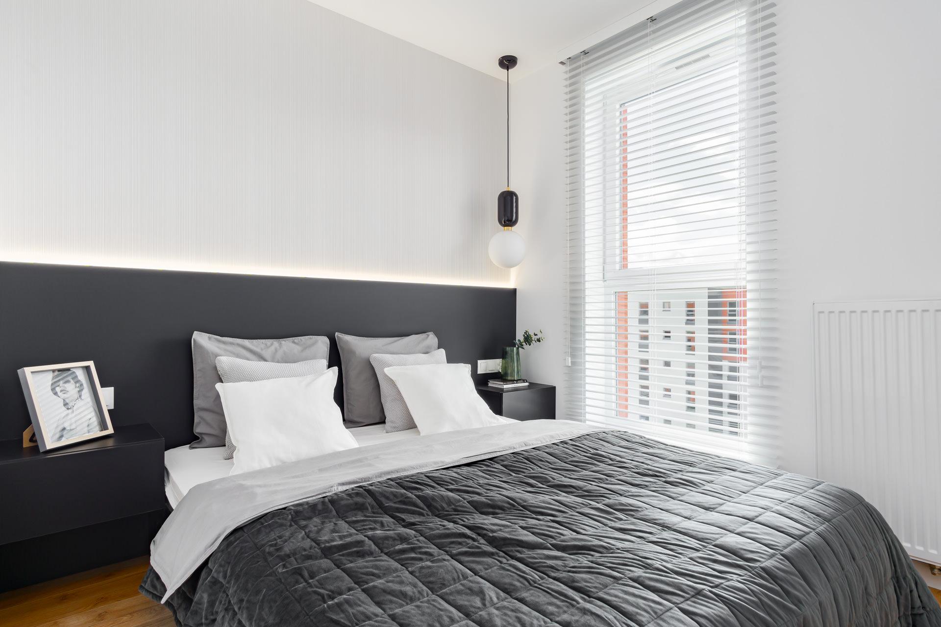 Projekt wnętrz nowoczesna sypialnia