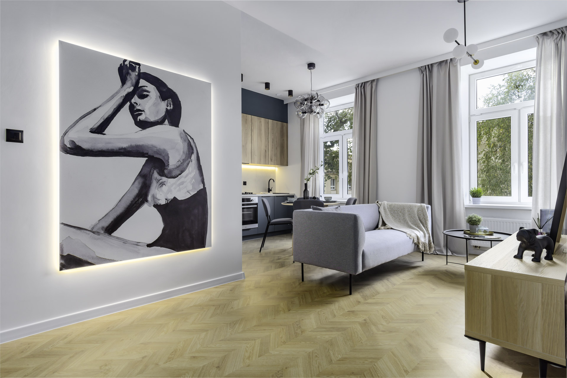 loftowe mieszkanie w kamienicy w Łodzi