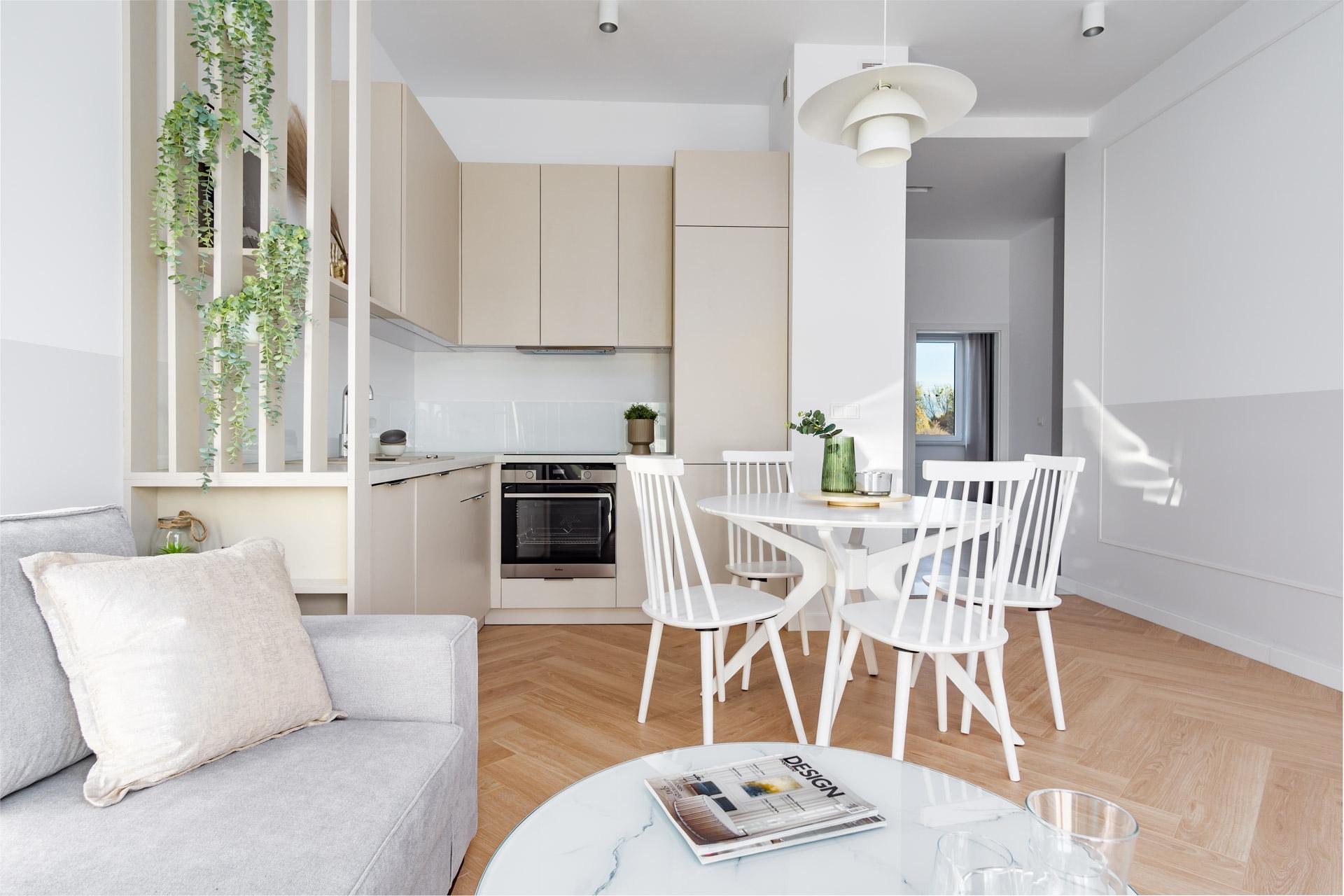 Nowoczesne klasyczne mieszkanie projekt wnętrz