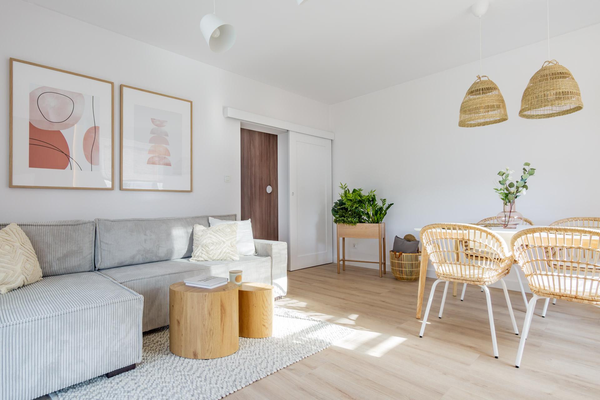 projekt wnętrz mieszkanie w Łodzi w stylu boho