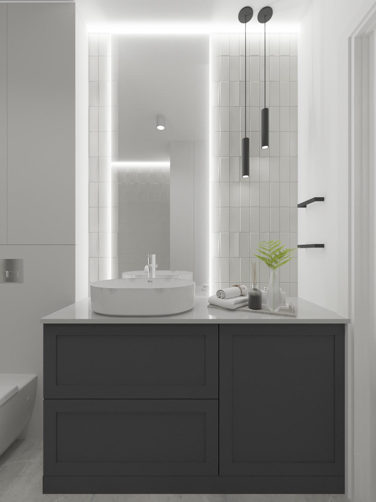łazienka wizualizacja projektu wnętrz