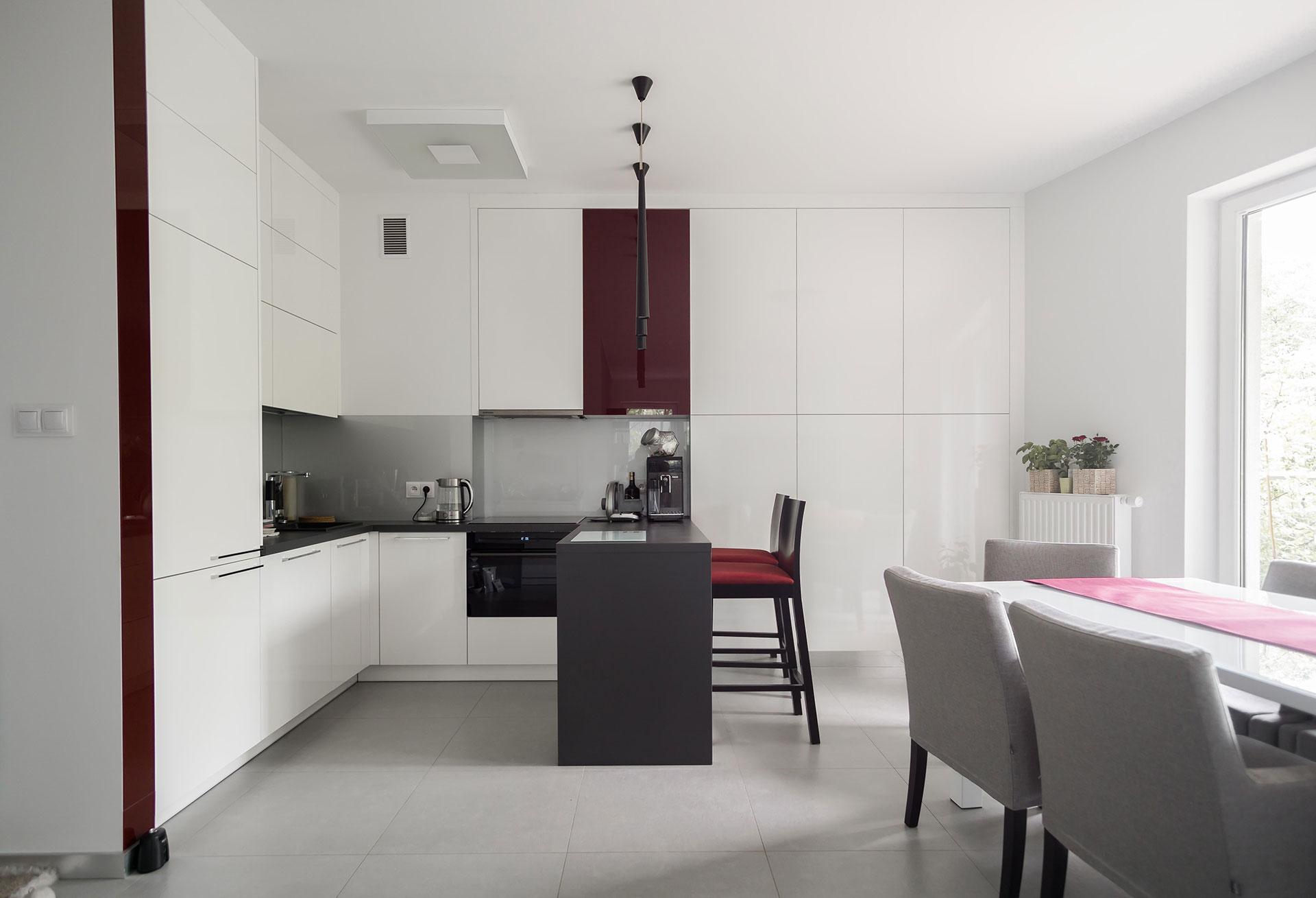 Projekt wnętrz mieszkania kuchnia