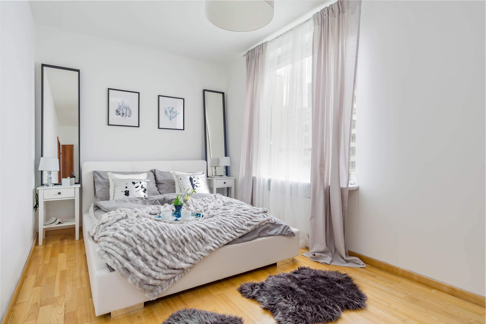 home staging sypialnia po odświeżeniu