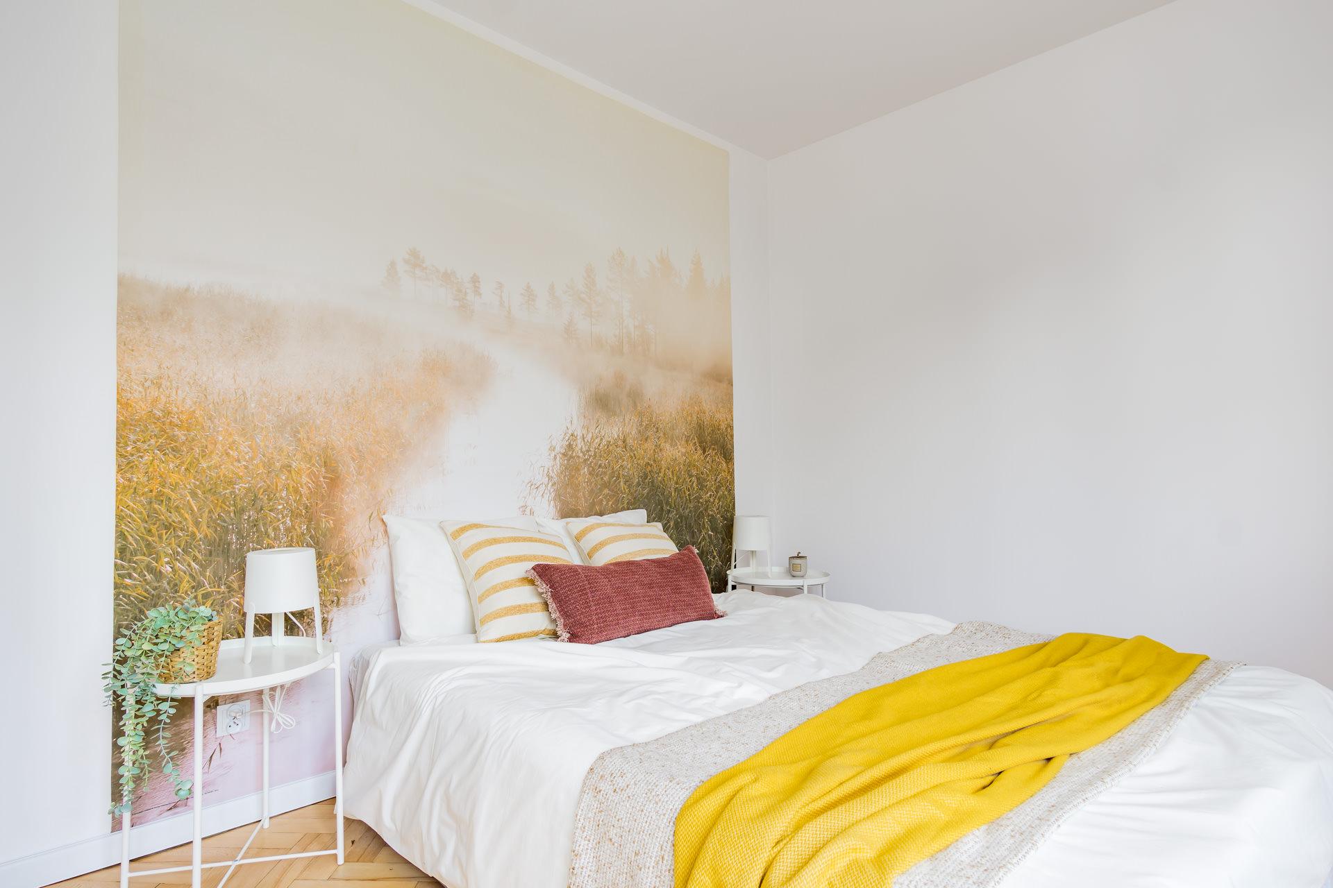 projekt wnętrz mieszkania - sypialnia