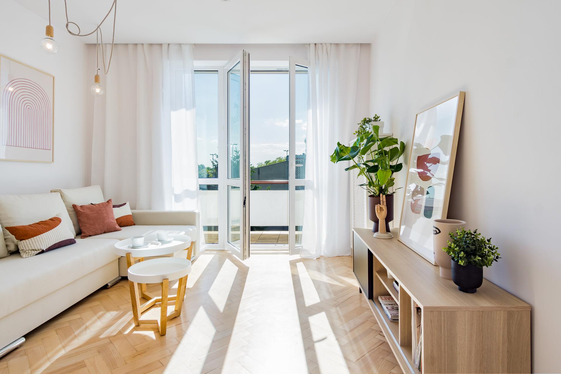 projekt wnętrz mieszkania - salon