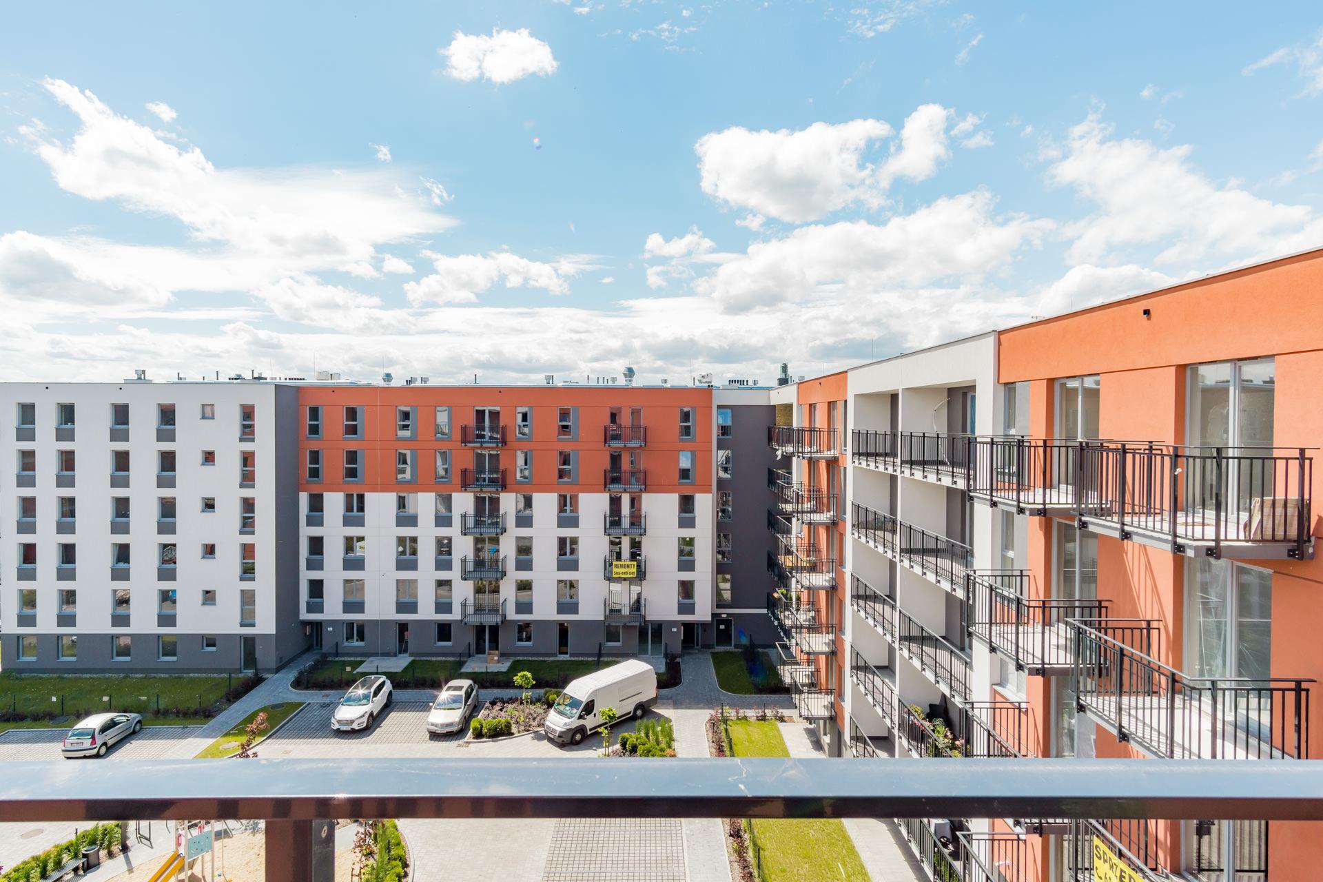 Projekt wnętrz nowoczesny apartamentowiec