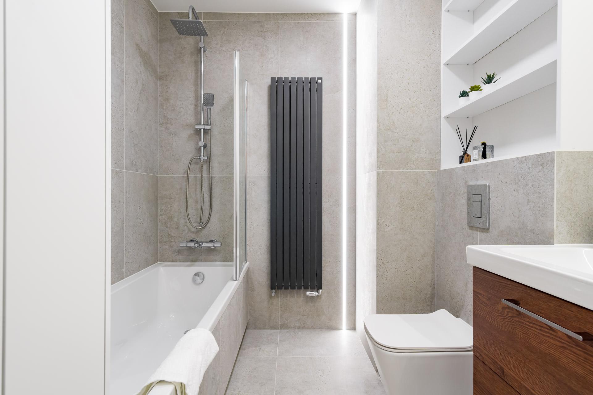projekt wnętrz łazienka szara