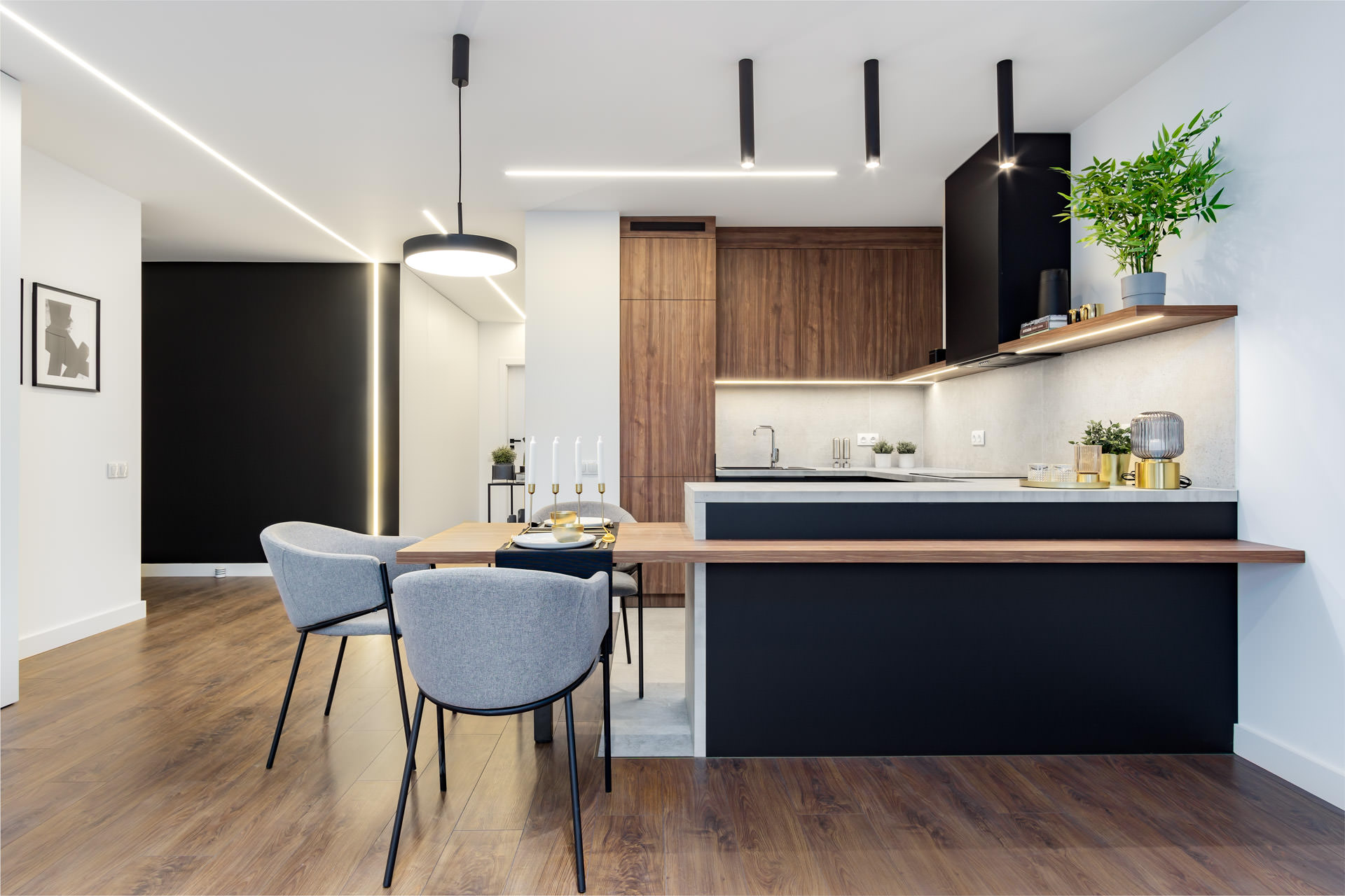 Nowoczesna kuchnia – mieszkanie deweloperskie