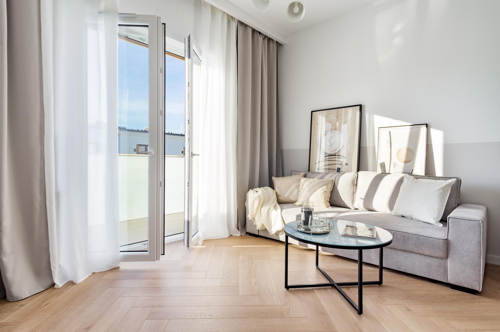 Projekt mieszkania w nowym bloku w Łodzi