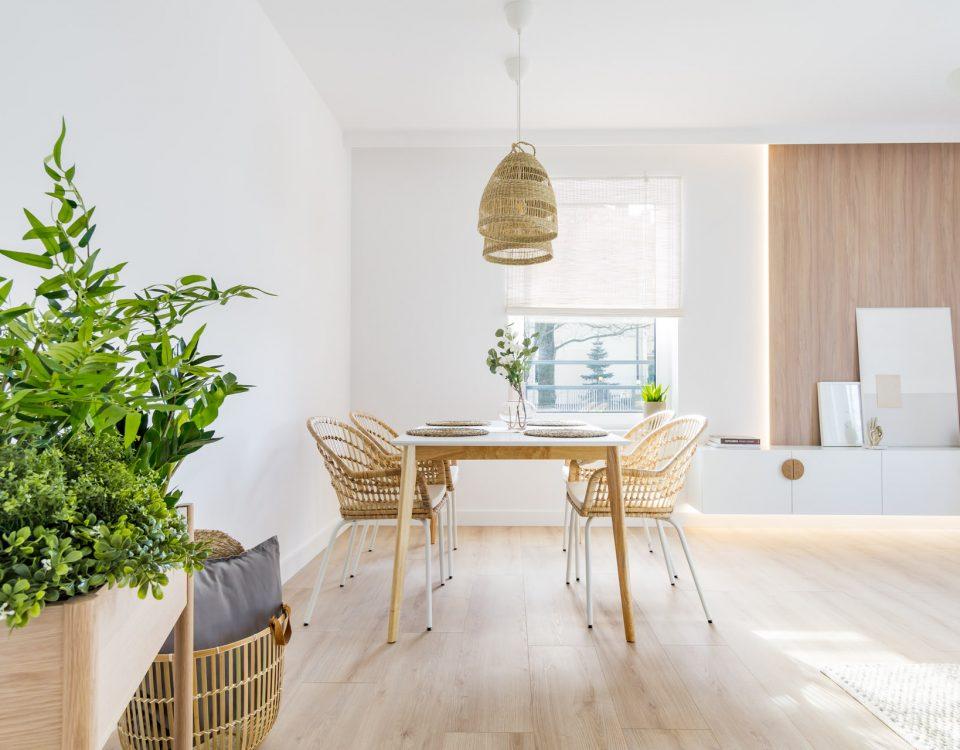 Aranżacja wnętrz - mieszkanie w stylu Boho w Łodzi