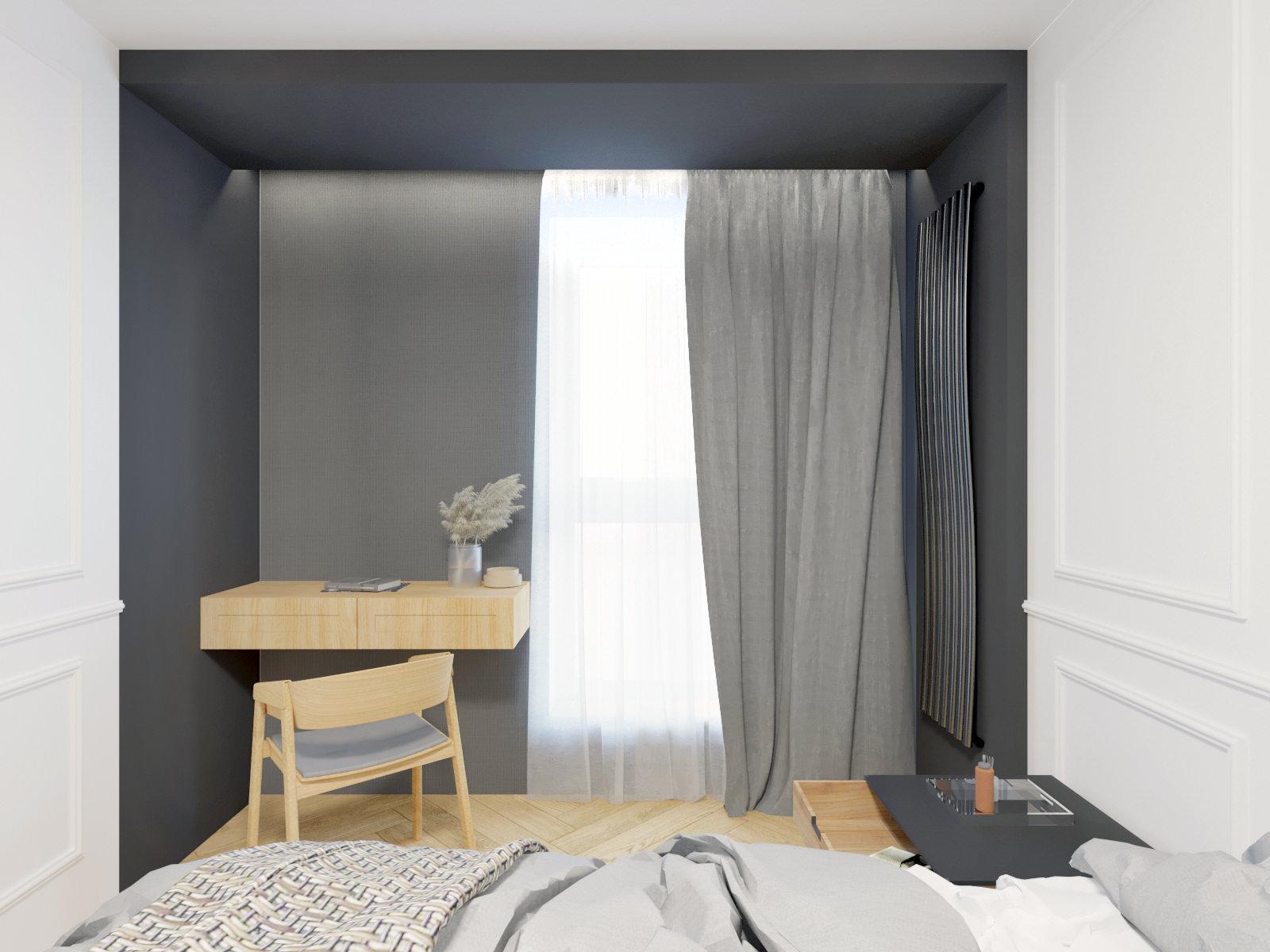 sypialnia wizualizacja projektu